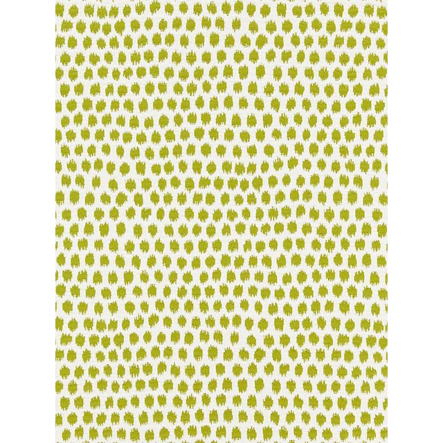 Scalamandre Dot Weave, Chartreuse Fabric For Sale