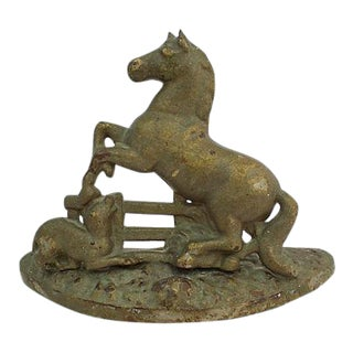 Antique Stallion Doorstop For Sale