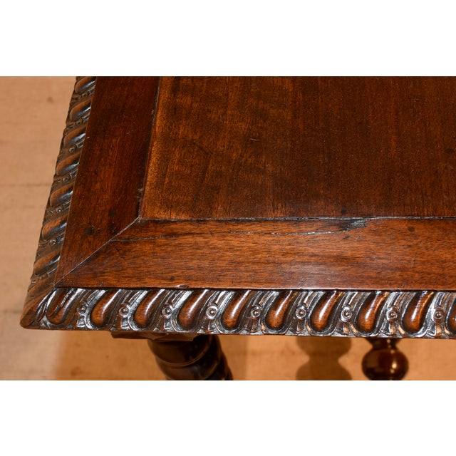 Wood 18th Century Walnut Side Table For Sale - Image 7 of 10