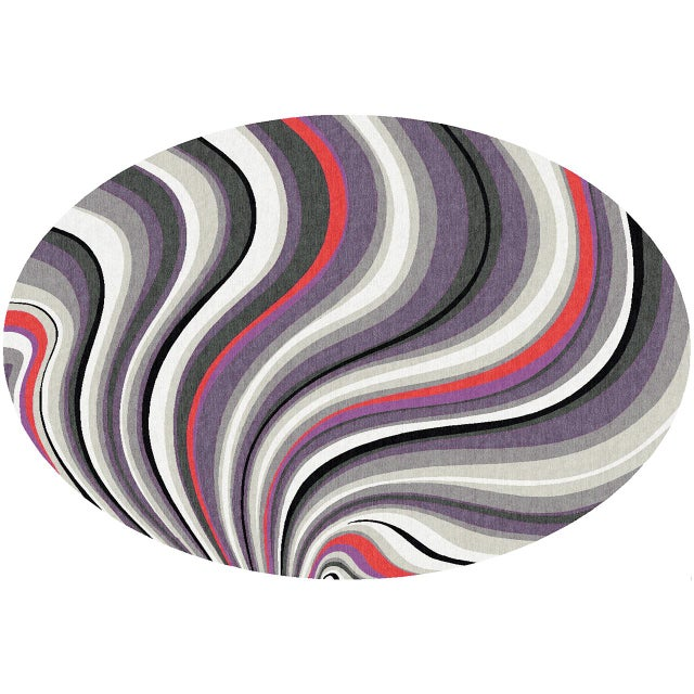 """Kensington Wave"" rug inspired by the graphic textile designs of the 1960s and 1970s by British textile artist Barbara..."