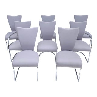 Set of Eight Vintage Modern Dining Chairs- Design Institute of America, Dia For Sale
