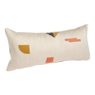 Modern Woven Geometric Pillow For Sale