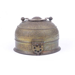 Indian Brass Repousse Chapati Box Preview