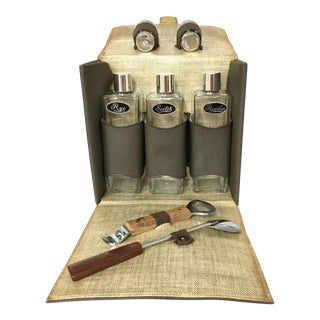 Vintage Travel Bar Set For Sale