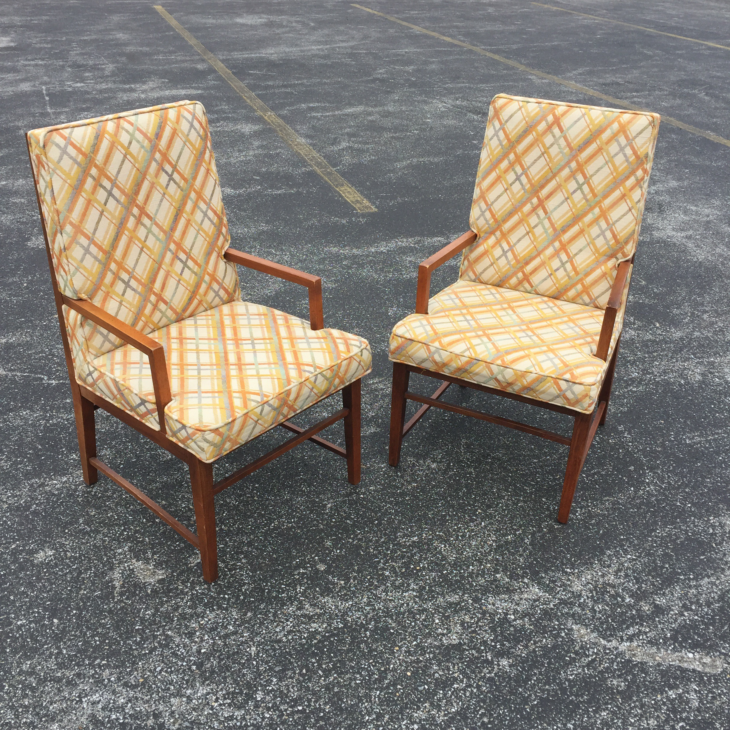 Thomasville MCM Founders Arm Chairs   A Pair   Image 2 Of 11