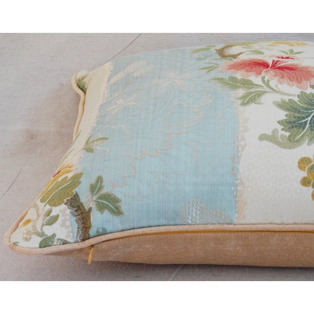 Scalamandre Silk Lampas Pillows - A Pair - Image 11 of 11
