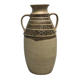 1960s Jan Jones Signed Mid Century Modern Pottery Vase For Sale
