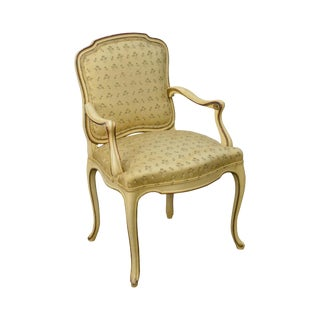 Louis XV Style Vintage Italian Paint Frame Arm Chair