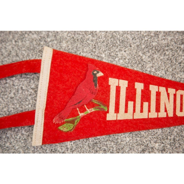 Illinois State Felt Flag - Image 2 of 3