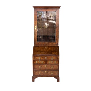 George I Walnut Bureau Bookcase, English, Circa 1710 For Sale
