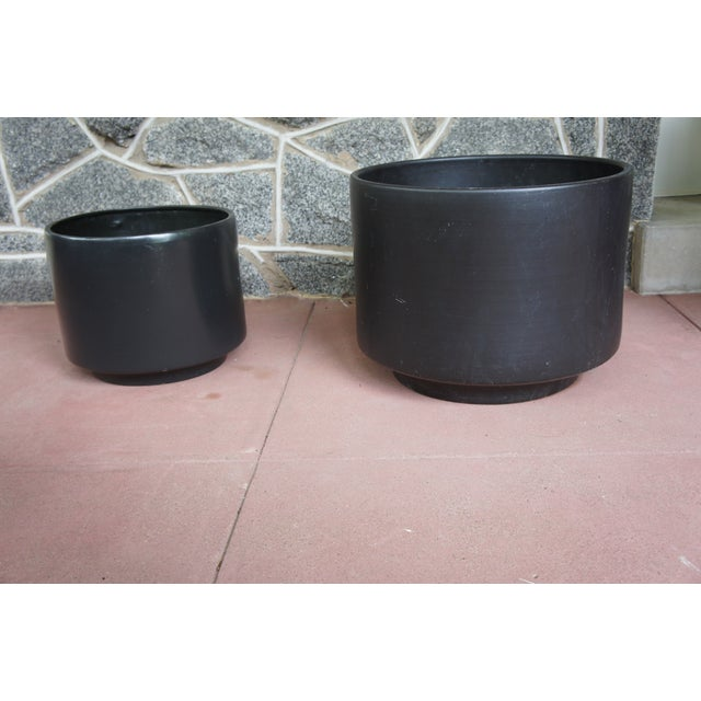 Gainey Style Graphite Gray Planters - A Pair - Image 2 of 9