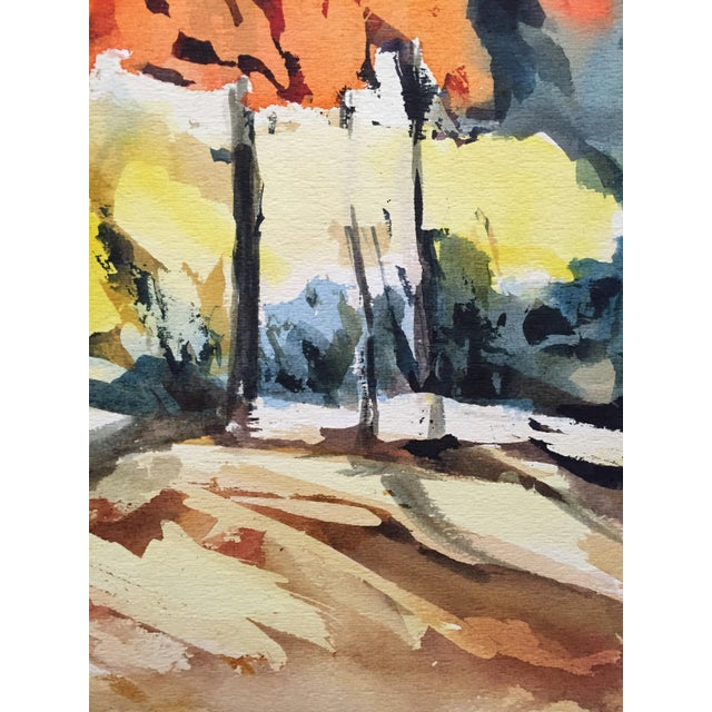 Thelma Moody 1960's Double-Sided Gouache Landscape - Image 4 of 7