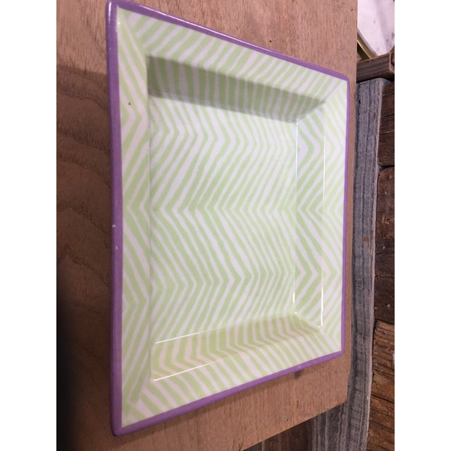 Ceramic Tozai Mini Tray Dishes - a Pair For Sale - Image 7 of 9