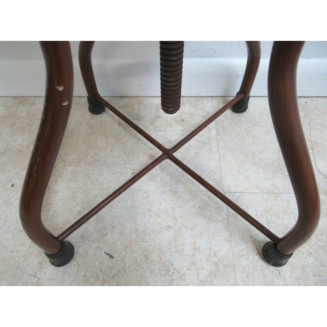 Wood 1950s Mid-Century Modern Industrial Doctor's Stool For Sale - Image 7 of 10