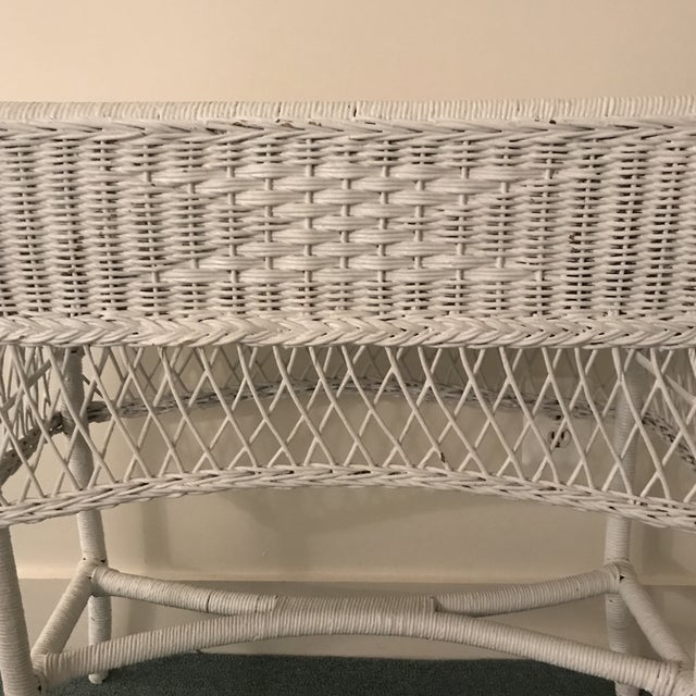 1950s Vintage Wicker Plant Stand For Sale - Image 5 of 13