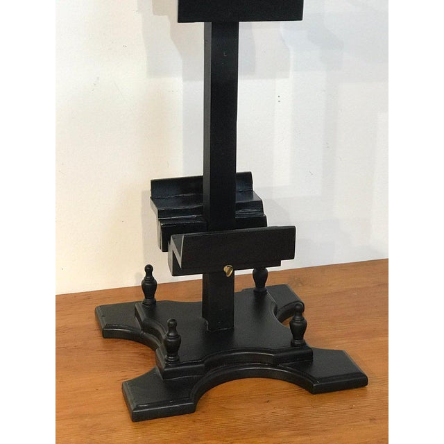 Mid 20th Century Regency Style Ebonized Dual Sided Table Easel For Sale - Image 5 of 11