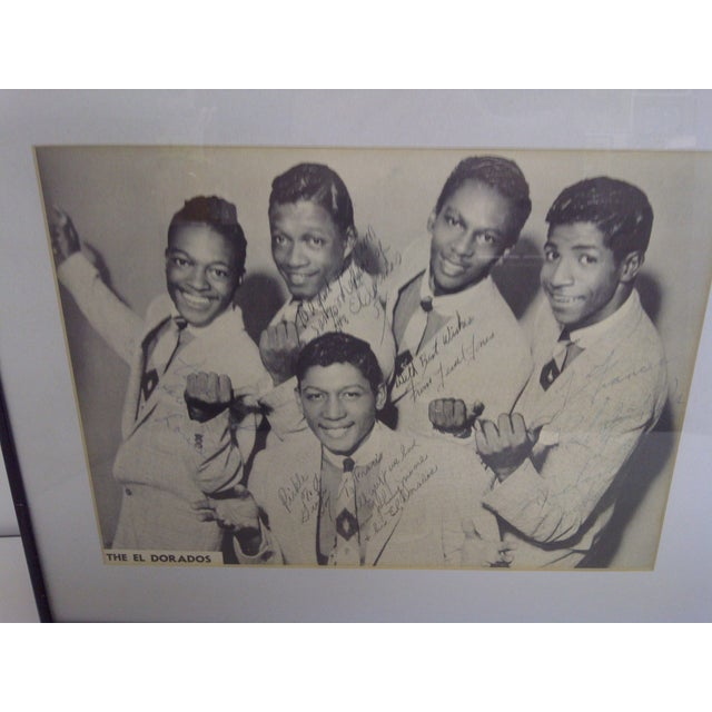 Mid-Century Modern The El Dorados Autographed Photo & Record For Sale - Image 3 of 5