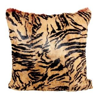 Vintage Tiger Real Fur Pillow For Sale