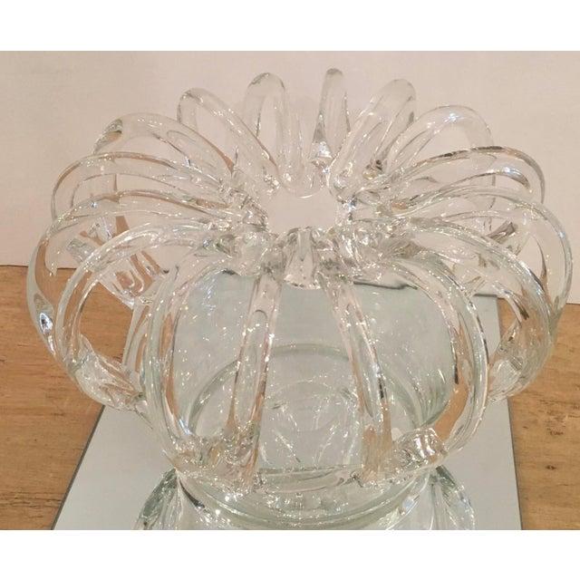 American Antique Steuben Crystal Crown Form Centerpiece Vase For Sale - Image 3 of 4