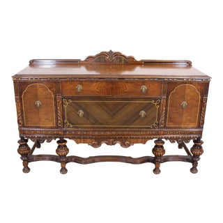 Antique Walnut Sideboard/Credenza For Sale