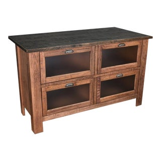 Crafters and Weavers Emerson Kitchen Island - Rustic Walnut For Sale