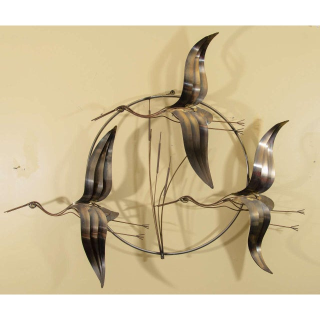 Lovely Curtis Jere Flying Geese Wall sculpture | DECASO