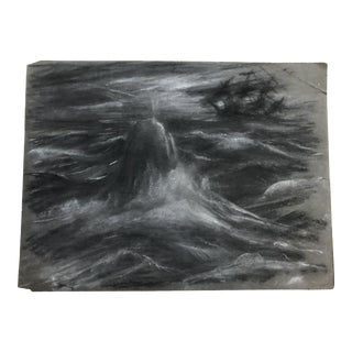 1930s Vintage Eliot Clark Moby Dick American Impressionist Inspired Drawing For Sale