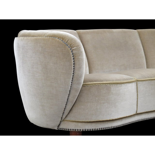 1930's Scandinavian Deco Mohair Sofa For Sale - Image 10 of 13