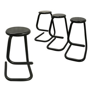 "1970s ""Paperclip"" Bar Stools by Haworth for Kinetic For Sale"