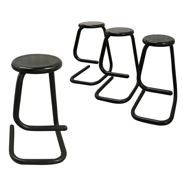 """1970s """"Paperclip"""" Bar Stools by Haworth for Kinetic For Sale"""