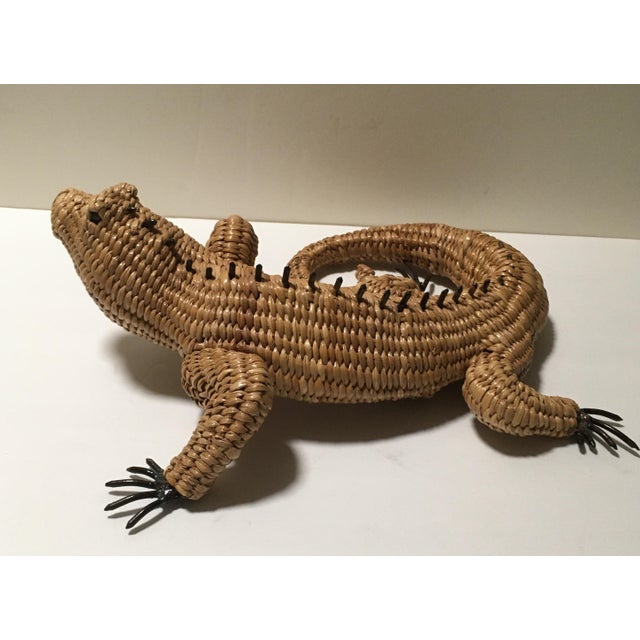 1970s Vintage Mario Lopez Torres Woven Iguana Figurine For Sale - Image 5 of 10