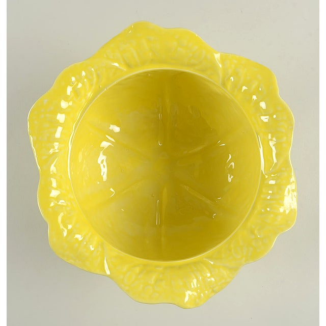 Mid 20th Century Secla Cabbage-Yellow Tureen For Sale - Image 5 of 11