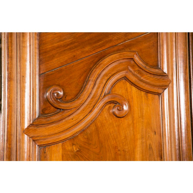 Late 18th Century French Fruitwood Chateau Armoire For Sale In San Francisco - Image 6 of 6
