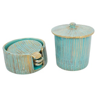 Italian Pottery Smoke Set, 5 Pcs For Sale