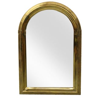 Large Art Deco Solid Brass Mirror by LaBarge