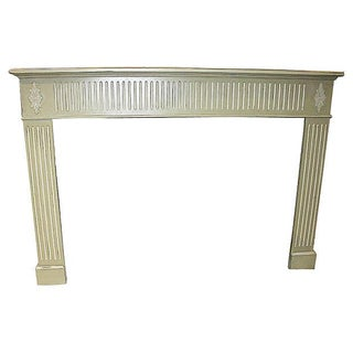 Celadon Distressed Fireplace Mantel For Sale