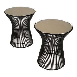 Early Bronze Side Tables by Warren Platner for Knoll, 1966 - a Pair For Sale
