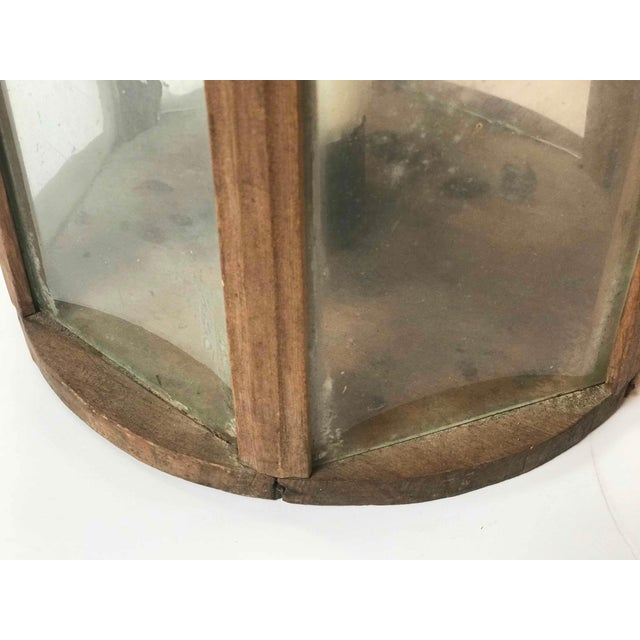 Mid-Century Modern Late 19th Century Rustic Swedish Round Wooden Lantern For Sale - Image 3 of 5