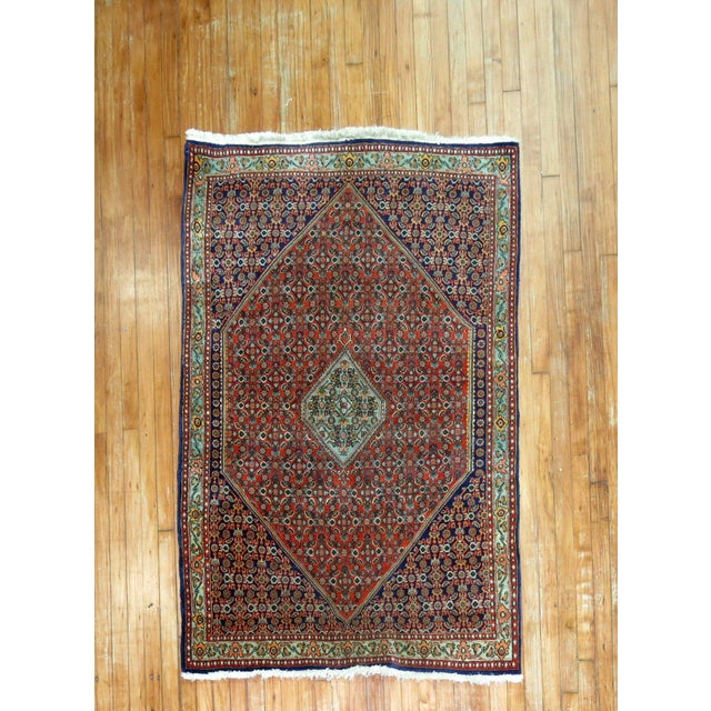 Full Pile Persian Bidjar Rug in excellent condition. circa 1950. Bidjar carpets are world renowned for their superb...