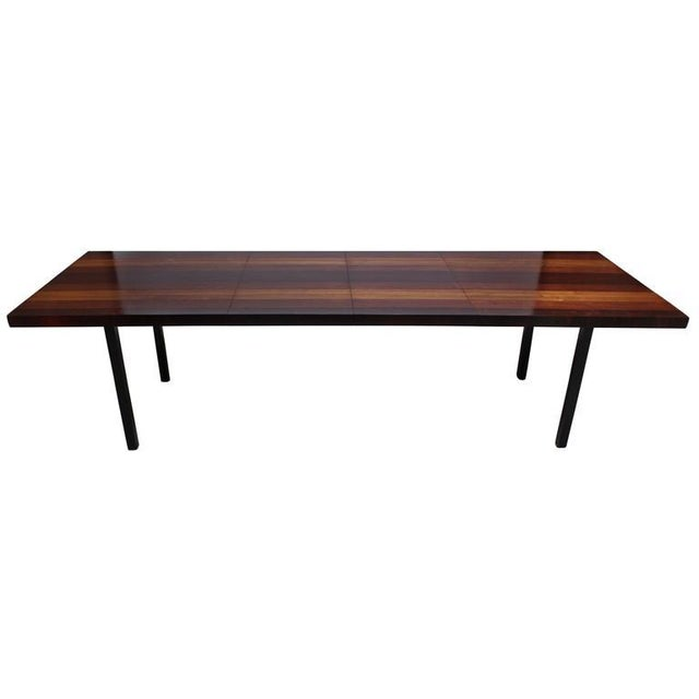 Milo Baughman Mixed Wood Dining Table For Directional - Image 3 of 11
