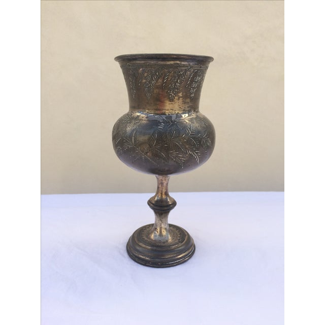 Antique Silver Plate Chalice - Image 2 of 11