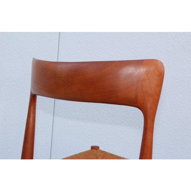 1950's Danish Teak Sculptural Dining Chairs - Set of 6 For Sale - Image 11 of 13