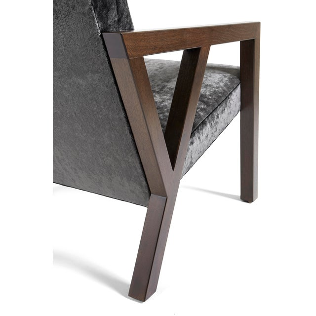 Not Yet Made - Made To Order Modern Walnut Moda Chair For Sale - Image 5 of 8