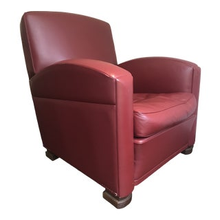 Poltrona Frau Tabarin Chair and Ottoman For Sale