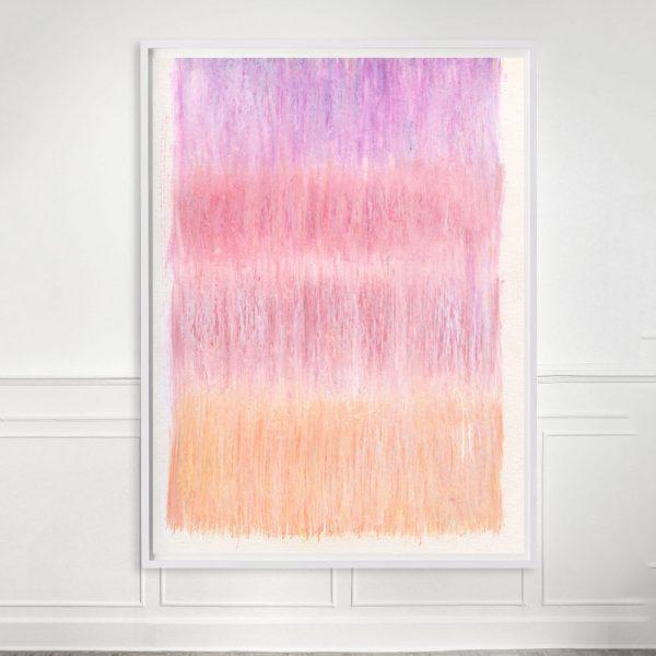 """Contemporary """"Sorbet No.1"""" Unframed Print For Sale - Image 3 of 3"""