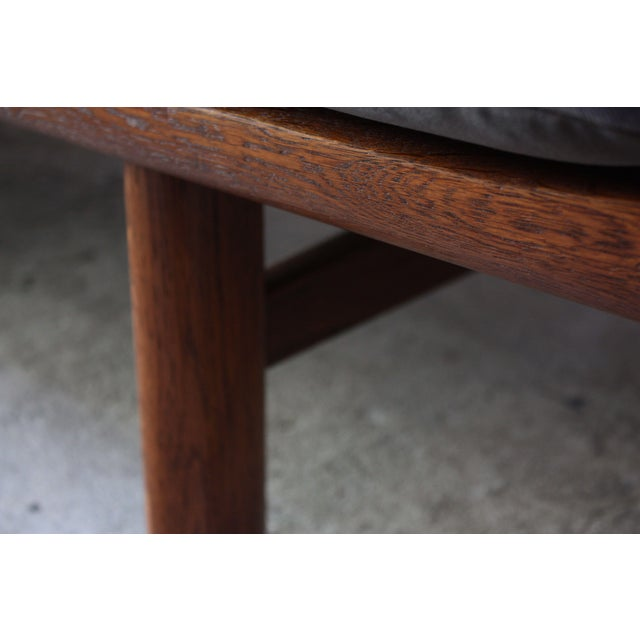 Hans Wegner for GETAMA Sofa in Oak and Velvet - Image 6 of 12