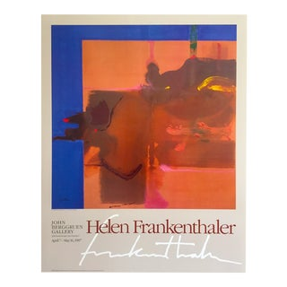 "Helen Frankenthaler Abstract Expressionist Lithograph Print Exhibition Poster "" Rio Grande "" 1987 For Sale"