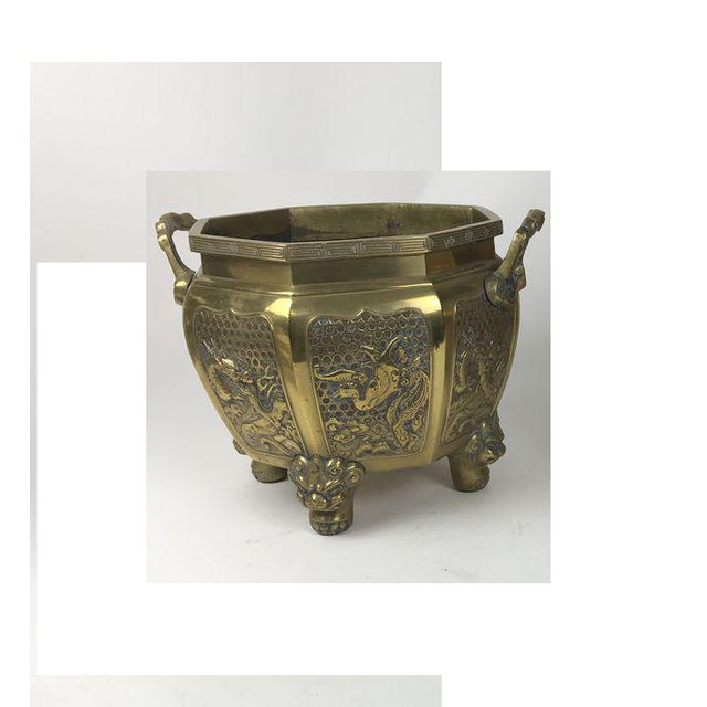Japanese Brass Planter For Sale - Image 10 of 10