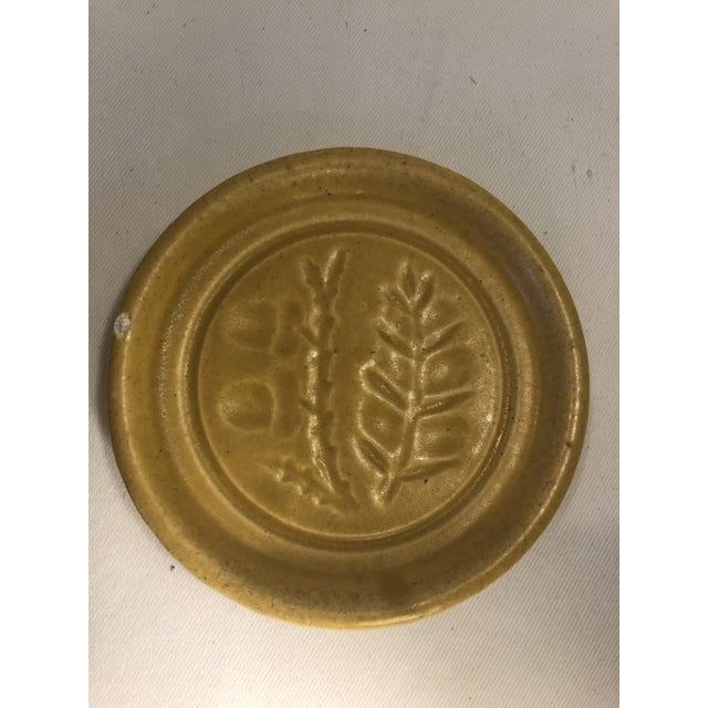 Pigeon Forge Pottery Yellow Coasters-Ashtrays Old Buttermold - Set of 4 For Sale In Dallas - Image 6 of 13