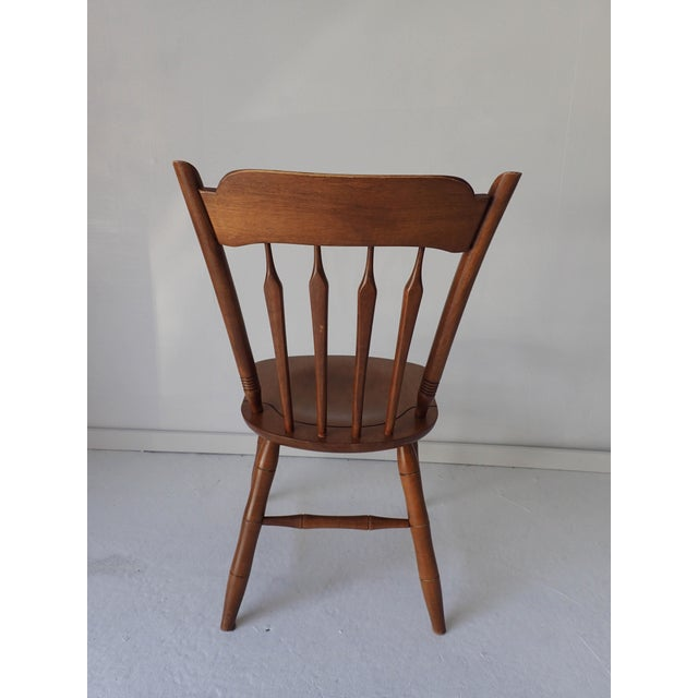 Ethan Allen Country Thumb-Back Dining Chair For Sale - Image 5 of 7